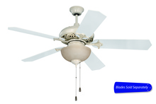 "Craftmade MI52AWD - Mia 52"" Ceiling Fan with Light in Antique White Distressed (Blades Sold Separately)"