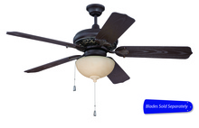 "Craftmade OMI52AGVM - Outdoor Mia 52"" Ceiling Fan in Aged Bronze/Vintage Madera (Blades Sold Separately)"