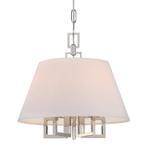 Crystorama 2255-PN - 5 Light Polished Nickel Eclectic Modern Mini Chandelier