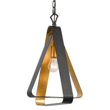 Crystorama 591-EB-GA - 1 Light English Bronze + Antique Gold Industrial Mini Chandelier