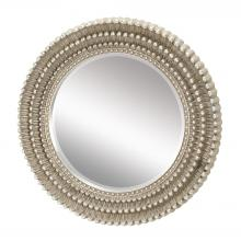 Sterling Industries 6050409 - Dahlia Mirror In Antique Silver Leaf