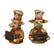 Sterling Industries 93-19326/S2 - Chef Pig Bookends