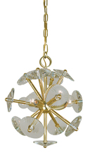 Framburg 4814 PN - 4-Light Polished Nickel Apogee Mini Chandelier