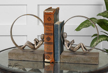 Uttermost 19596 - Uttermost Lounging Reader Antique Bookends Set/2