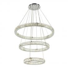 PLC Lighting 90073PC - PLC1 Ceiling Treble Pendant from the Equis Collection