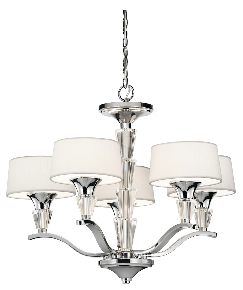 Kirby Risk in Lafayette, Indiana, United States, Kichler 42029CH, Mini Chandelier 5Lt, Crystal Persuasion