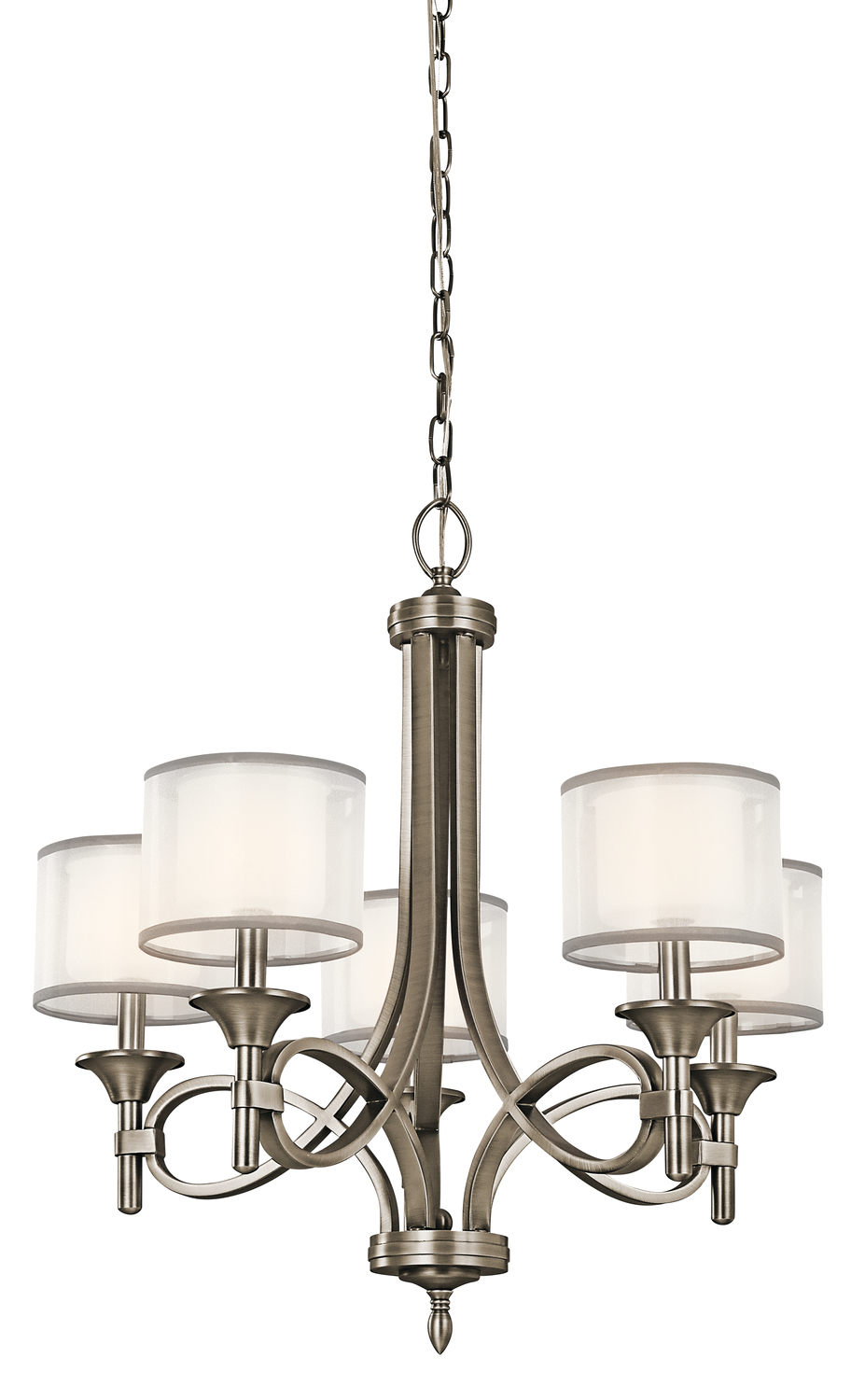 Kirby Risk in Lafayette, Indiana, United States, Kichler 42381AP, Chandelier 5Lt, Lacey