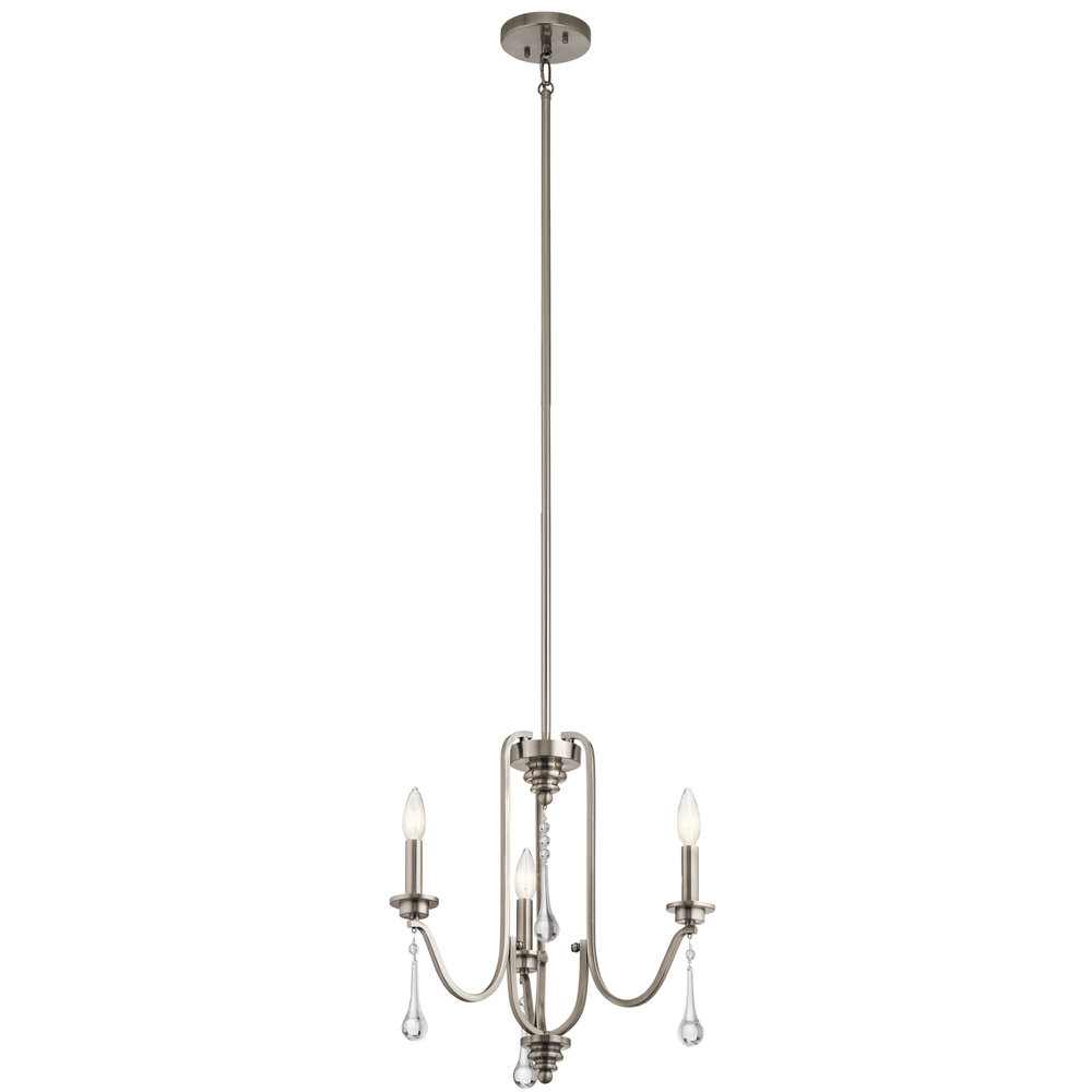 Kirby Risk in Lafayette, Indiana, United States, Kichler 44150CLP, Mini Chandelier 3Lt, Karlee