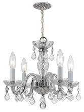 Crystorama 1064-CH-CL-S - Crystorama Traditional Crystal 4 Light Clear Swarovski Strass Crystal Chrome Mini Chandelier