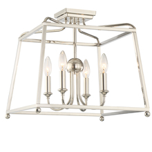Crystorama 2243-PN_NOSHADE - 4 Light Polished Nickel Modern Ceiling Mount