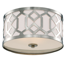 Crystorama 2263-PN - Libby Langdon for Crystorama Jennings 3 Light Polished Nickel Ceiling Mount