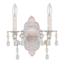 Crystorama 5022-AW-CL-MWP - Crystorama Paris Market 2 Light Clear Crystal White Sconce I