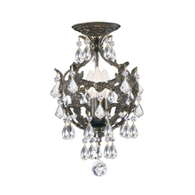 Crystorama 5193-EB-CL-MWP_CEILING - 3 Light English Bronze Crystal Ceiling Mount Draped In Clear Hand Cut Crystal
