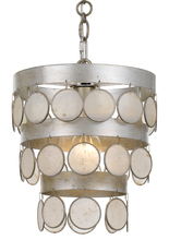 Crystorama 6003-SA - 1 Light Antique Silver Coastal Mini Chandelier