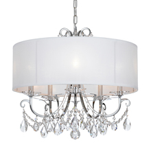 Crystorama 6625-CH-CL-S - Crystorama Othello 5 Light Clear Swarovski Strass Crystal Polished Chrome Chandelier