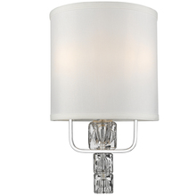 Crystorama 6832-CH - 2 Light Polished Chrome Mid Century Modern Sconce Draped In Glass Ice Cubes