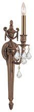 Crystorama 751-MB-CL-MWP - Crystorama 1 Light Clear Crystal CastBrass Sconce