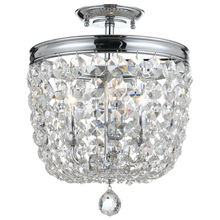Crystorama 783-CH-CL-SAQ - Crystorama Archer 3 Light Spectra Crystal Polished Chrome Ceiling Mount