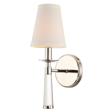 Crystorama 8861-PN - 1 Light Polished Nickel Transitional Sconce