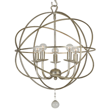 Crystorama 9224-OS - 5 Light Olde Silver Industrial Mini Chandelier