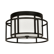 Crystorama 9590-MK - 2 Light Matte Black Industrial Rustic Chic Ceiling Mount