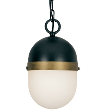Crystorama CAP-8505-MK-TG - The Capsule Collection by Brian Patrick Flynn 1-Light Matte Black and Textured Gold Outdoor Pendant