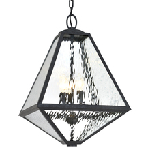 Crystorama GLA-9705-WT-BC - 3 Light Black Charcoal Outdoor Living Chandelier