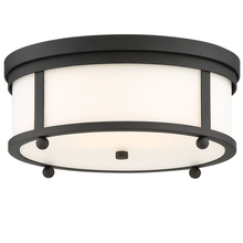 Crystorama SYL-2283-OP-BF - The Sylvan Collection by Libby Langdon 3-Light Black Forged Outdoor Ceiling Mount
