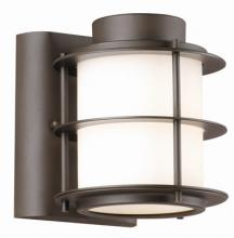 Forecast F849668 - One-light Outdoor Wall in Deep Bronze finish with etched white opal glass
