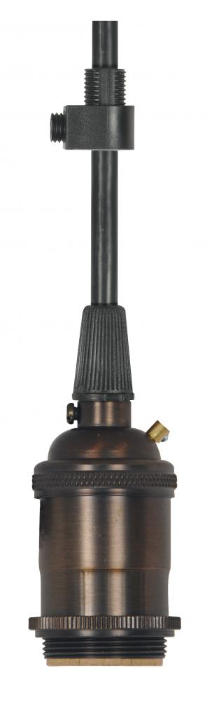 Kirby Risk in Lafayette, Indiana, United States, Satco Products Inc. 80/2576, Medium base lampholder; 4pc. Solid brass; pre-wired; Keyless; 2 Uno rings; 10ft. 18/3 SVT Black Cord,