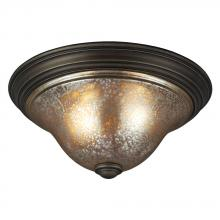 Sea Gull 7570402-736 - Blayne Two Light Ceiling Flush Mount in Platinum Oak with Mercury Glass