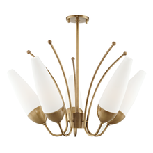 Hudson Valley H262805-AGB - 5 Light Chandelier
