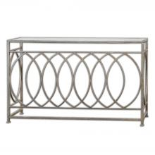 Uttermost 24306 - Uttermost Aniya Glass Top Console Table
