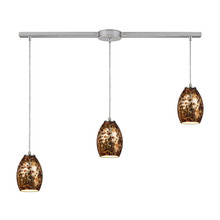 ELK Lighting 10255/3L - Venture 3 Light Pendant In Satin Nickel