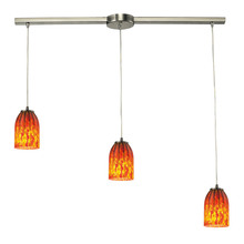 ELK Lighting 10335/3L - Caliente 3 Light Pendant In Satin Nickel
