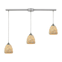 ELK Lighting 10414/3L - Shells 3 Light Pendant In Satin Nickel