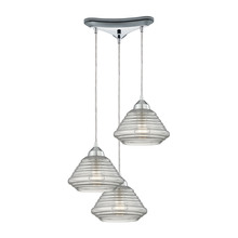 ELK Lighting 10424/3 - Orbital 3 Light Pendant In Polished Chrome And C