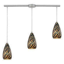 ELK Lighting 10445/3L - Predator 3 Light Pendant In Satin Nickel And Leo