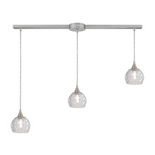 ELK Lighting 10456/3L - Kersey 3 Light Pendant In Satin Nickel