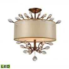 ELK Lighting 16291/3-LED - Asbury 3 Light LED LED Semi Flush In Spanish Bro