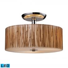 ELK Lighting 19065/3-LED - Modern Organics 3 Light LED Semi Flush In Polish
